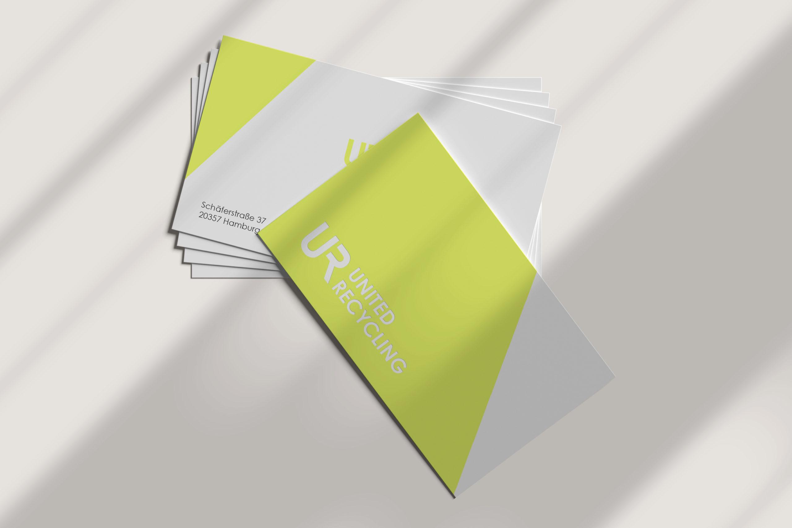 UNITED RECYCLING / Branding, stationary & webdesign