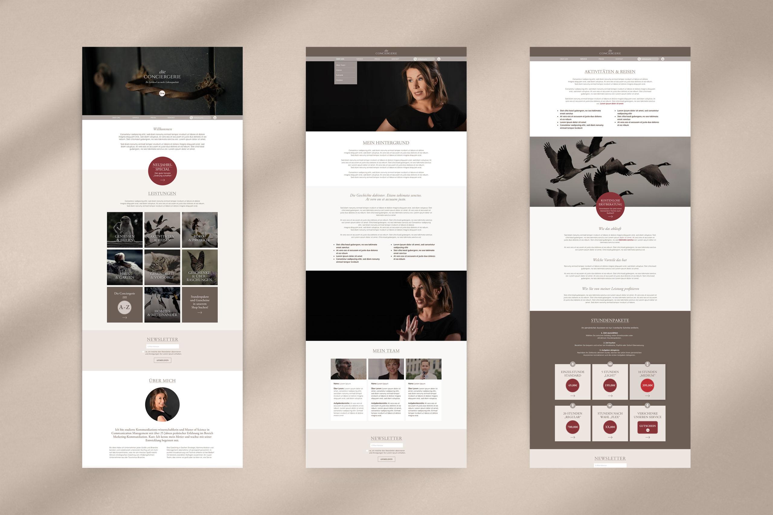 Die Conciergerie / Webdesign