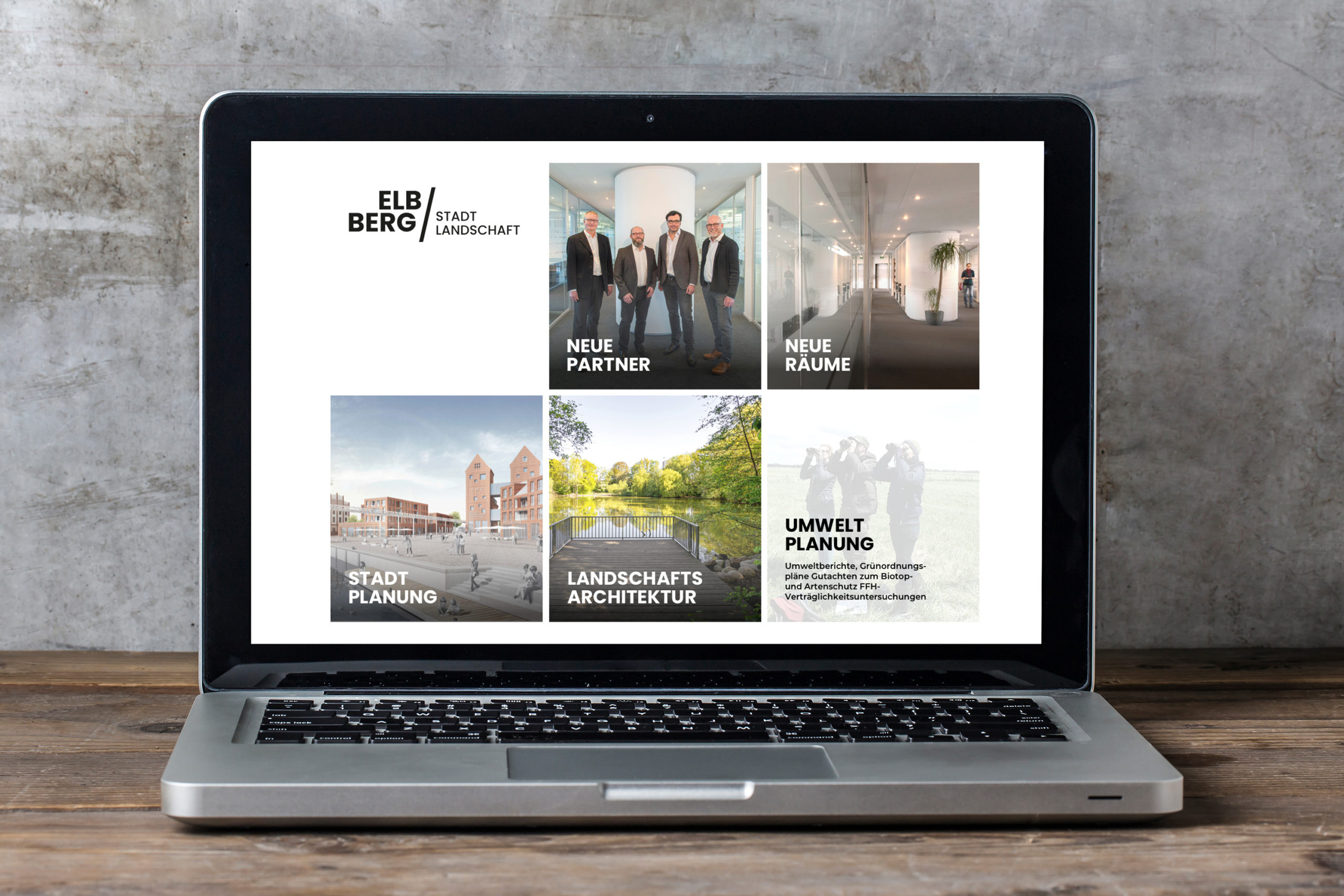 ELBBERG Standlandschaft l Stadt- und Landschaftsplanung l Webdesign