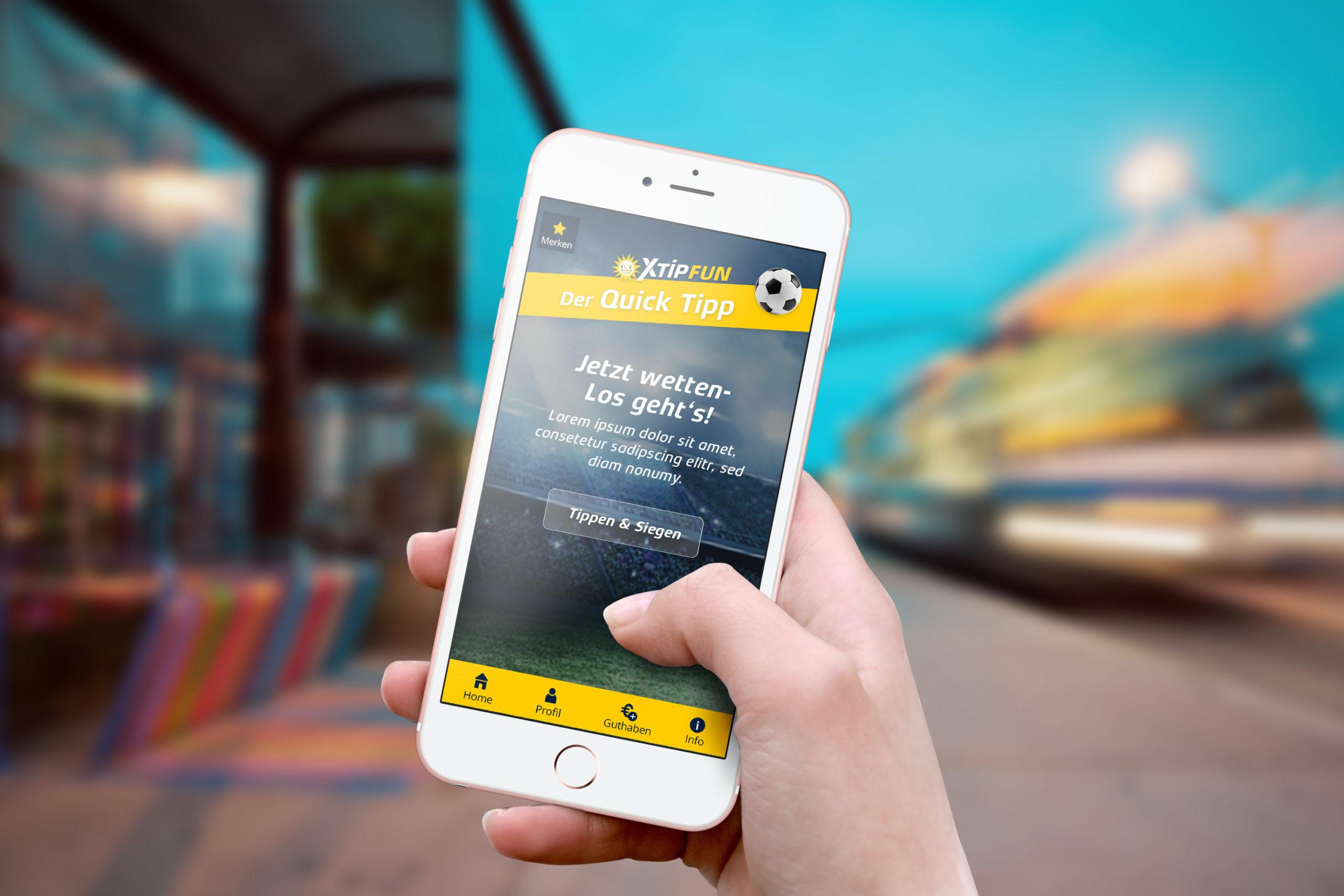 XTIP Sportswetten App Design