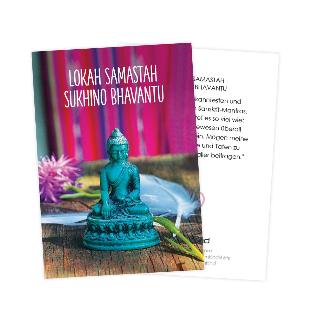 Mantra cards by Erdenkind / Lokah samstah sukino bhavantu