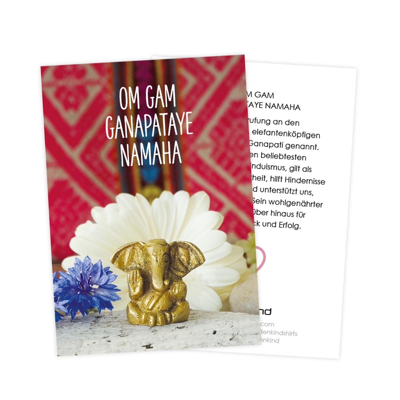 Mantra cards by Erdenkind / Om gam ganapataye namaha
