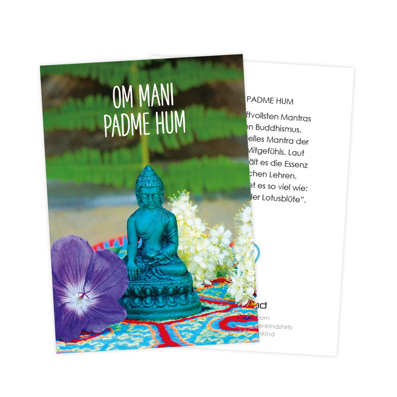 Mantra cards by Erdenkind / Om mani padme om