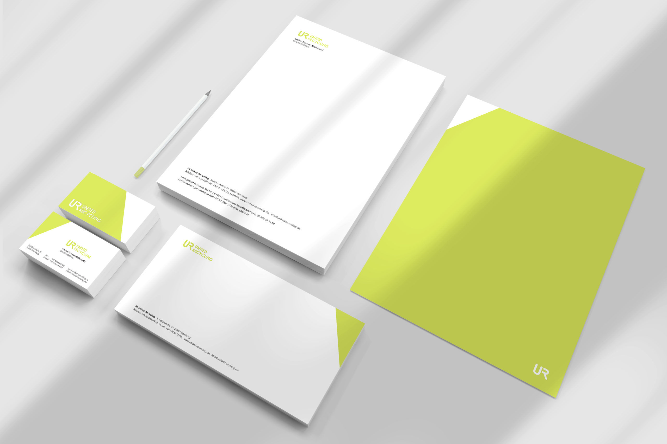 UNITED RECYCLING / Branding & stationary