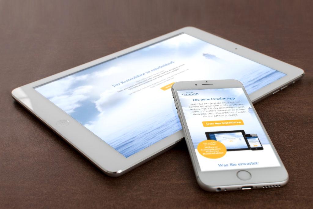 CONDOR Rentenrechner App design