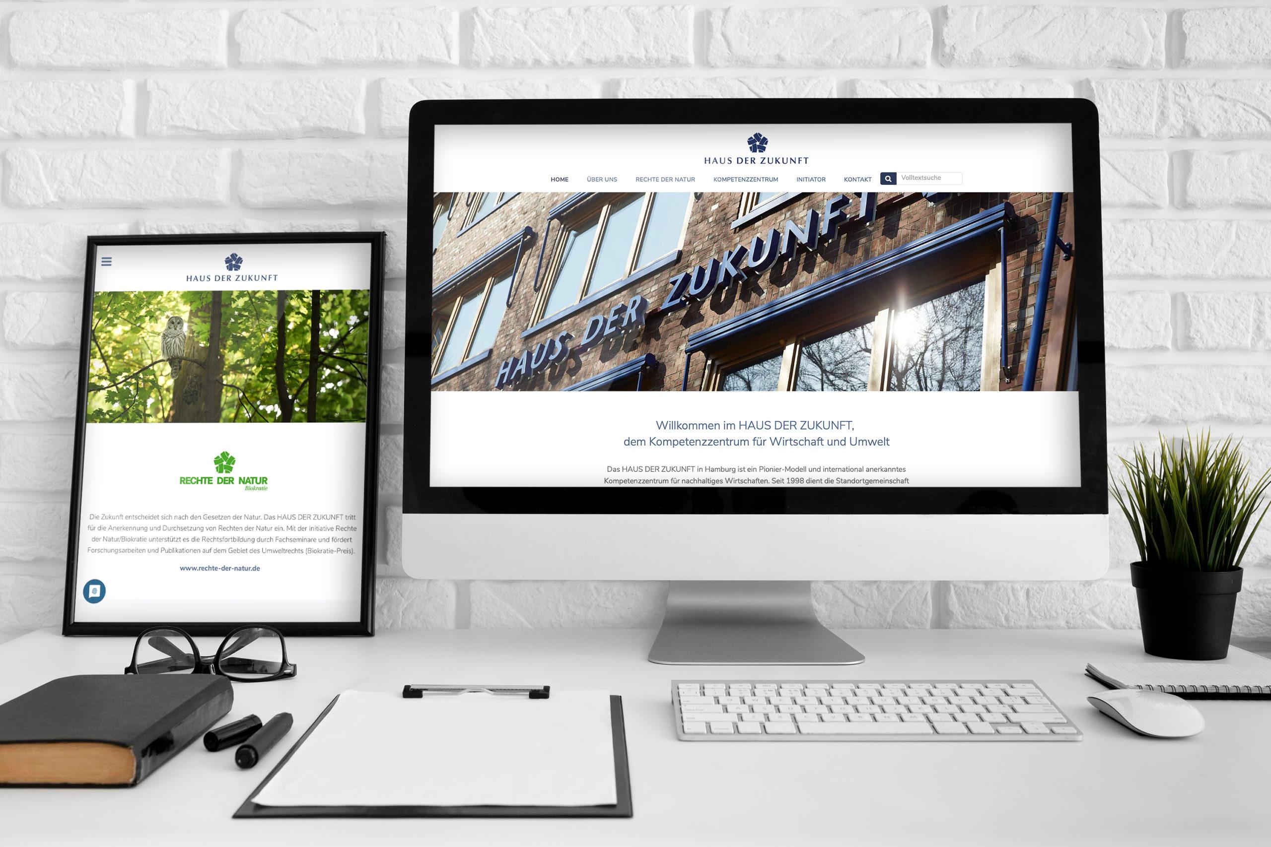 Haus der Zukunft Hamburg - Kompetenzzentrum für nachhaltiges Wirtschaften / Webdesign