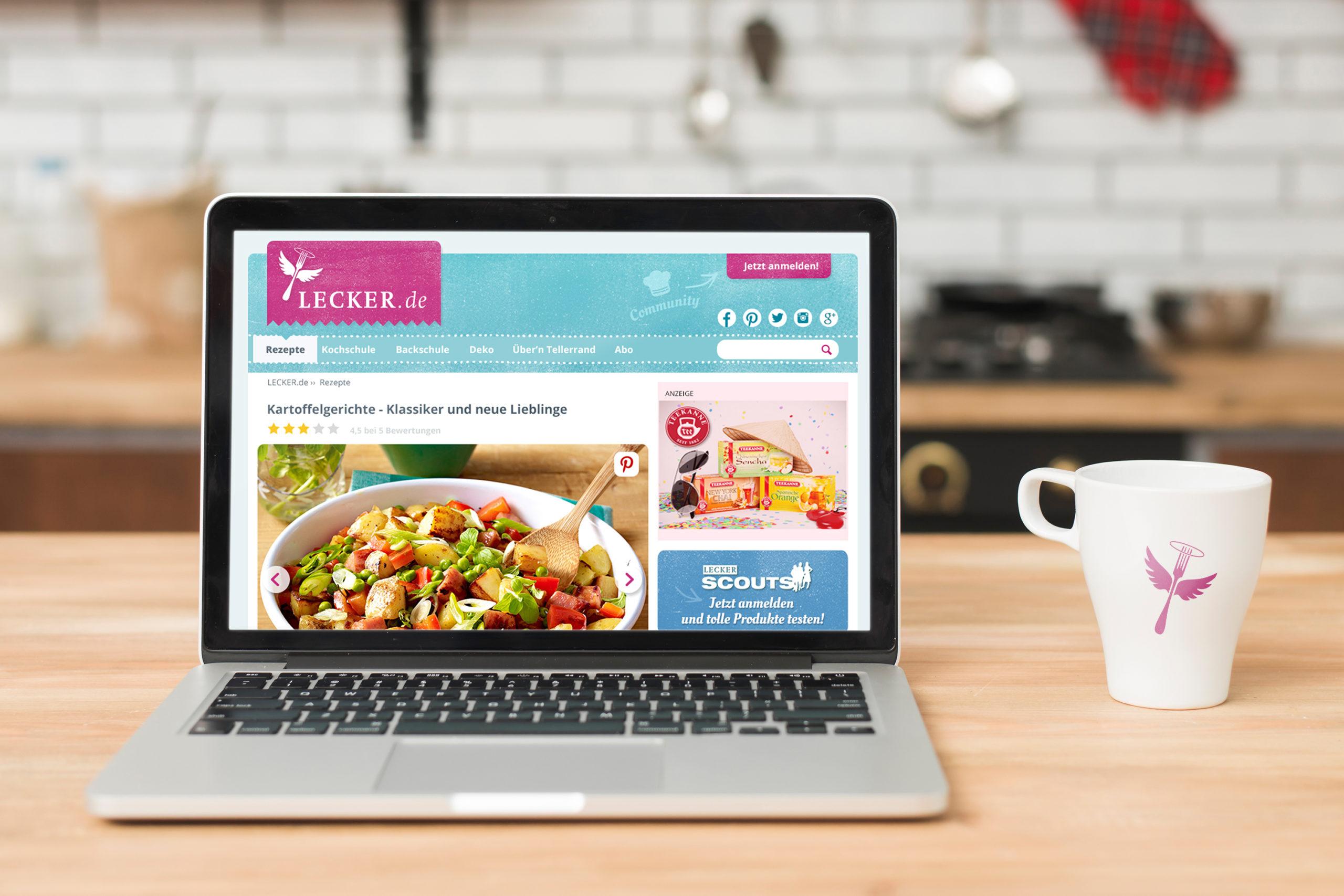 Lecker Backrezepte und Backen / responsive webdesign