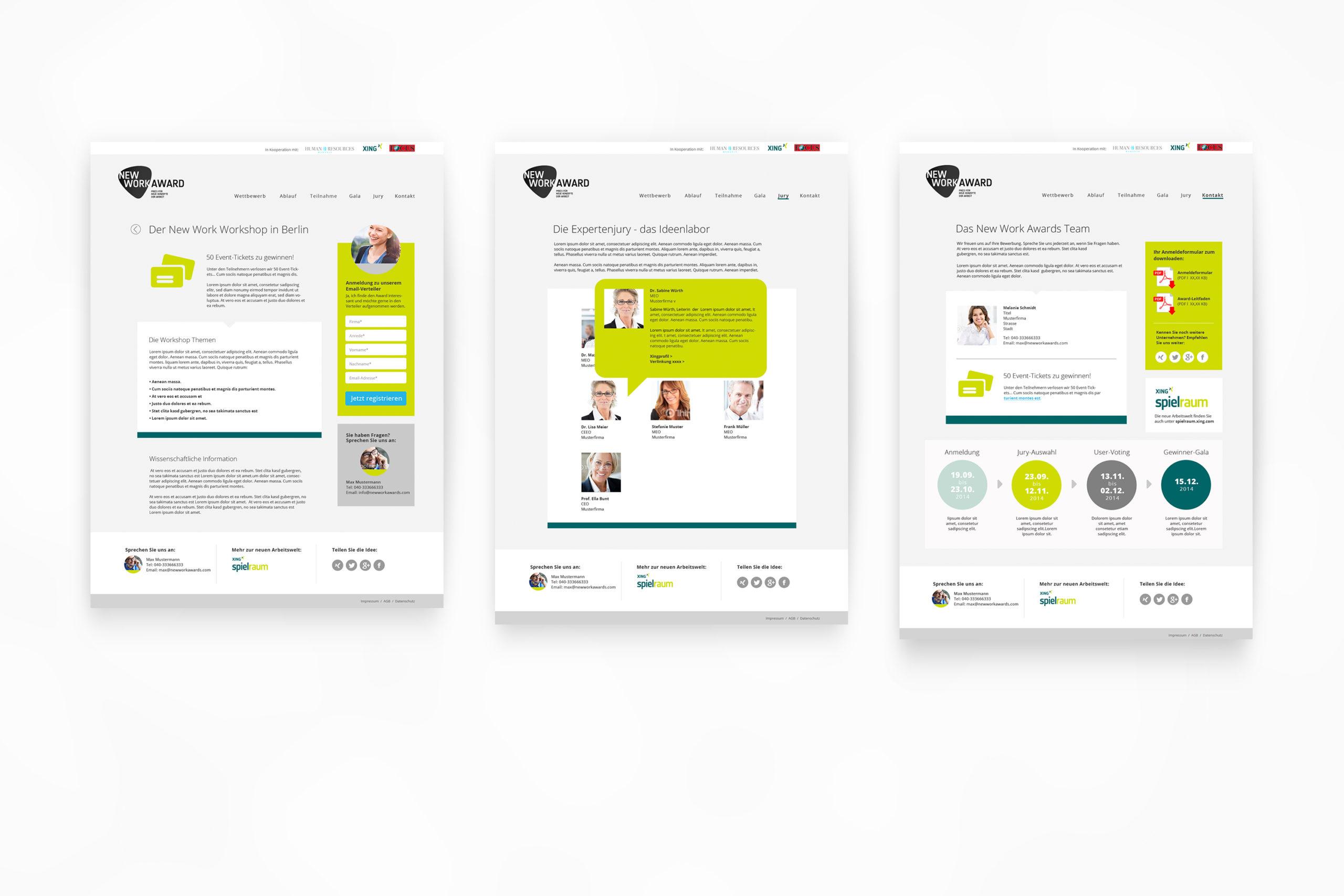 Xing NEW WORK SE AWARD / Webdesign