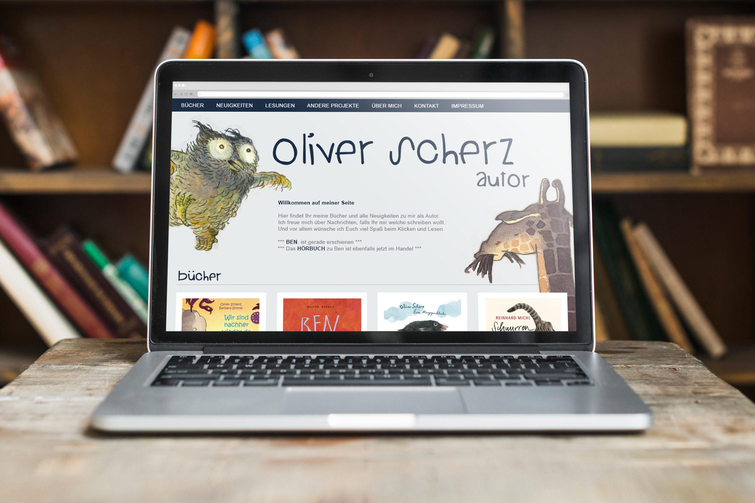 Oliver Scherz / Kinderbuchautor / Webdesign