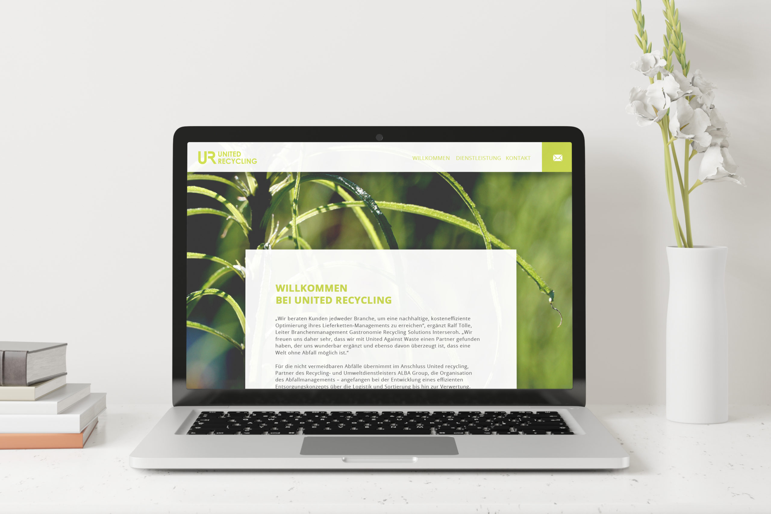 UNITED RECYCLING / Webdesign